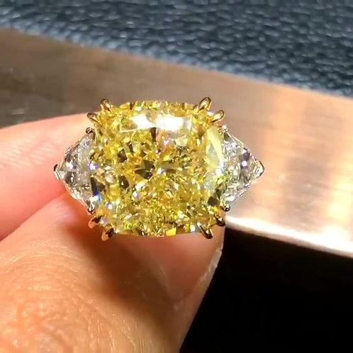 GIA Yellow Diamond Ring 12.01ct