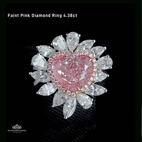 (Ask Price) Faint Pink Diamond Ring 4.38ct