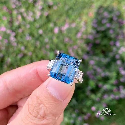 (Ask Price) Santa Maria Aquamarine Ring 11.64ct