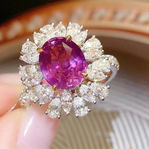 Sri Lanka Unheated Sapphire Ring 3.07ct