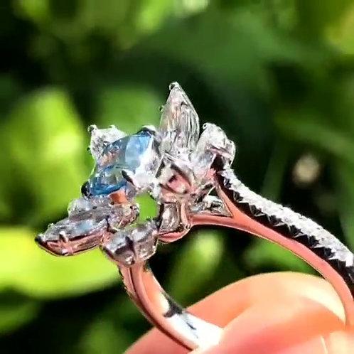 (Ask Price) GIA Blue Diamond Ring 1.0ct