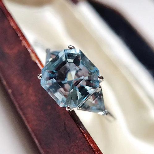 Natural Aquamarine Ring 3.037ct