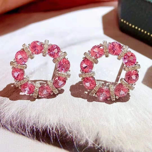 Pink Sapphire Eternity Ring 2.8ct