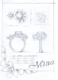 【Miyagawa Mina Factory】藍寶石吊墜重鑲