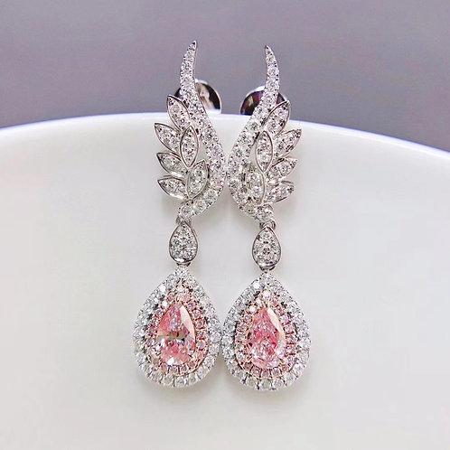Pink Diamond Earrings 0.60ct