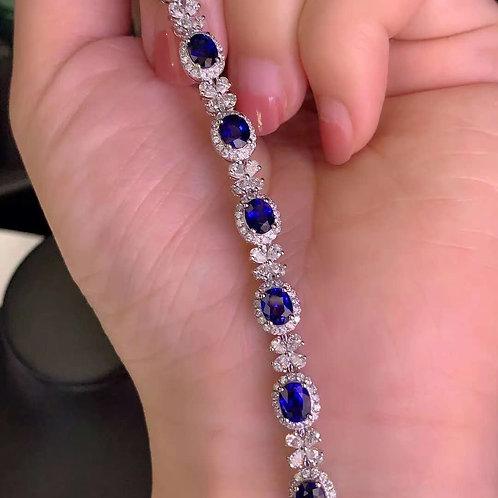 Royal Blue Sapphire Bracelet 8.3ct
