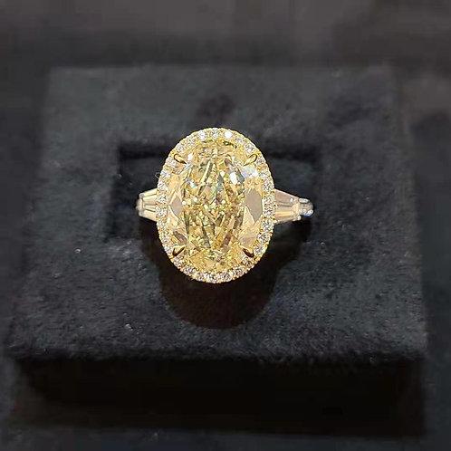 Fancy Yellow Diamond Ring 7.01ct