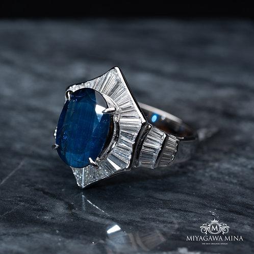 Sapphire Ring 5.49ct
