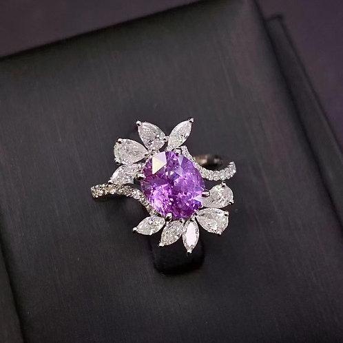Sri Lanka Unheated Sapphire Ring 2.57ct