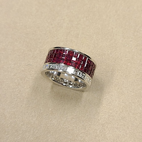 Invisible-Set Ruby Ring 2ct