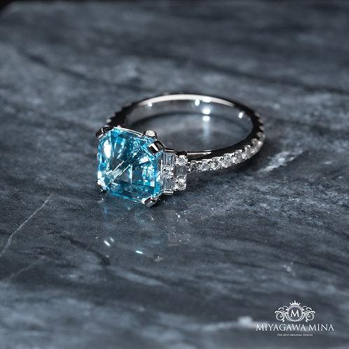 Baby Blue Topaz Ring 5ct