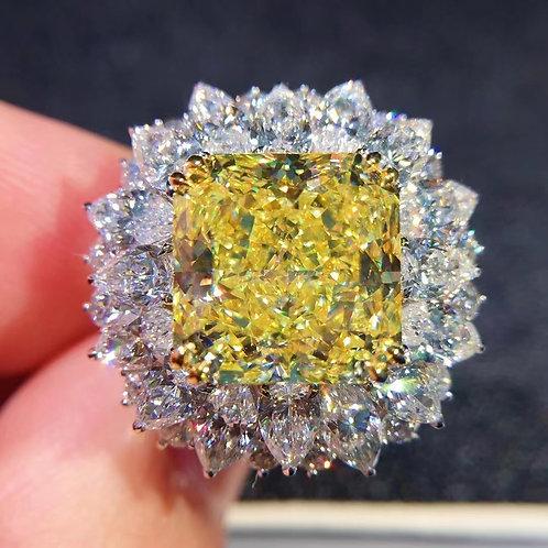 (Ask Price) GIA Fancy Intense Yellow Diamond Ring 6.74ct