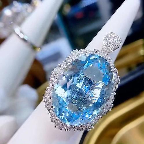 Aquamarine Ring 25.1ct