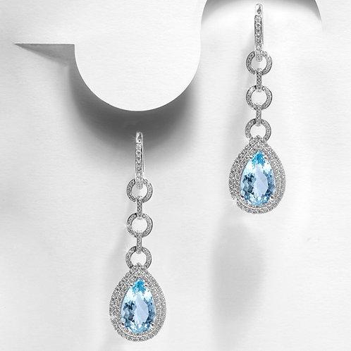 Aquamarine Earrings 6.5ct