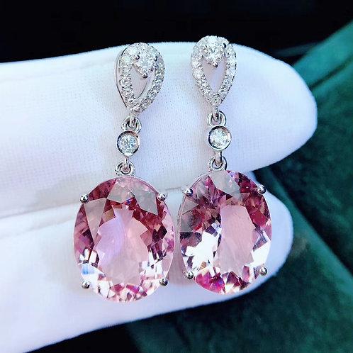 Pink Morganite Earrings 12.8ct