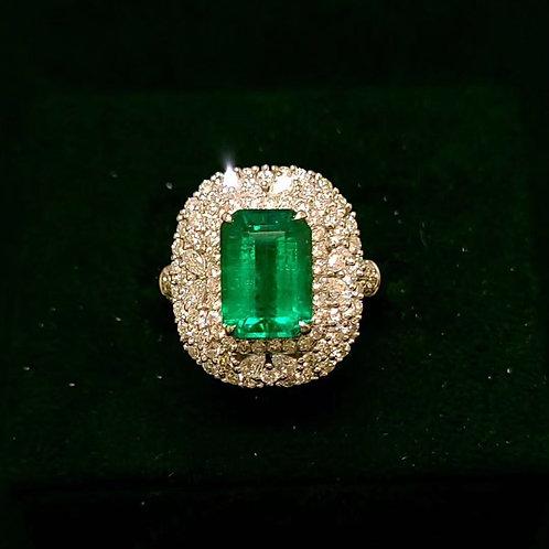 No Oil Emerald Ring 3.2ct