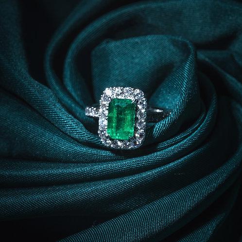 Vivid Green Emerald Ring 1.99ct