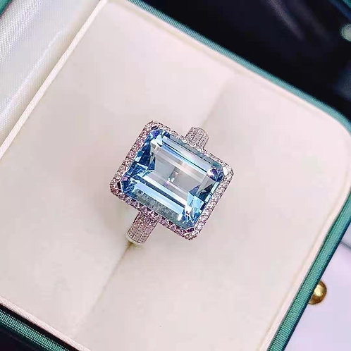 Santa Maria Aquamarine Ring 7.52ct