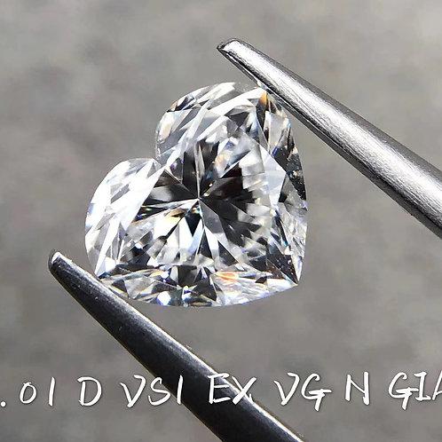 Heart Cut Diamond 1.09ct