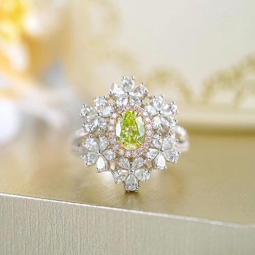 Green Diamond Ring  0.57ct