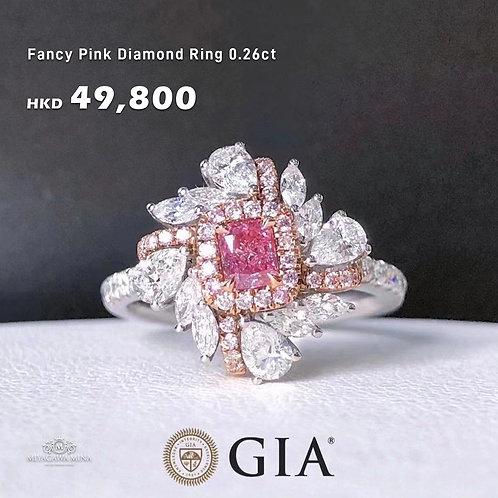 Fancy Pink Diamond Ring 0.26ct