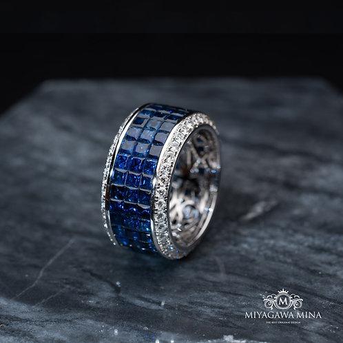 Sapphire Eternity Ring 12.58ct