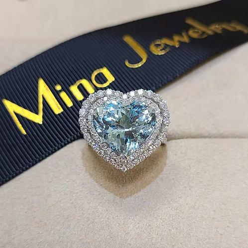 Aquamarine Ring 7.47ct