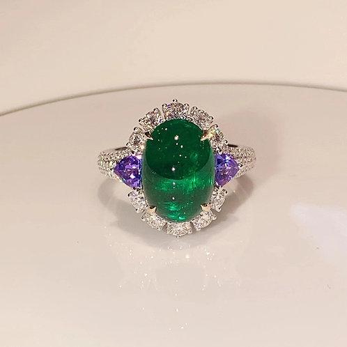 Verdant Green Emerald Ring 4.63ct