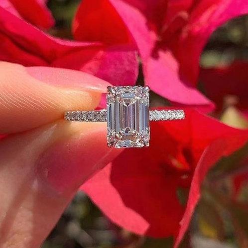 Emerald Cut Diamond Ring 1.ct
