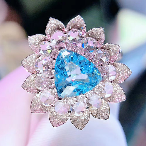 Neon Blue Paraiba Ring 2.0ct