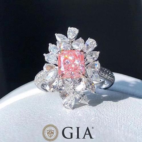 GIA Pink Diamond Ring 1.23ct