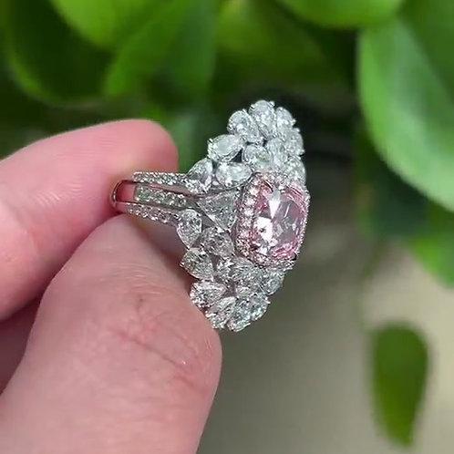 (Ask Price) GIA PinkDiamond Ring 3.09ct