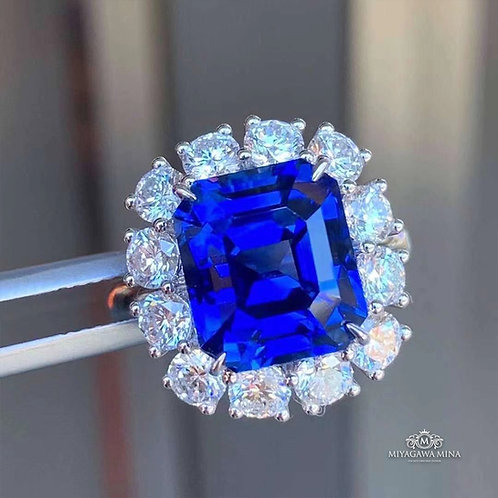 (Ask Price) Royal Blue Sapphire Ring 9.76ct