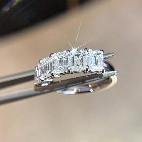 Half Circle Diamond Eternity Ring 2.5ct