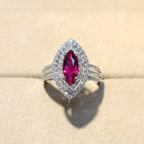 Unheated Ruby Ring 1.29ct