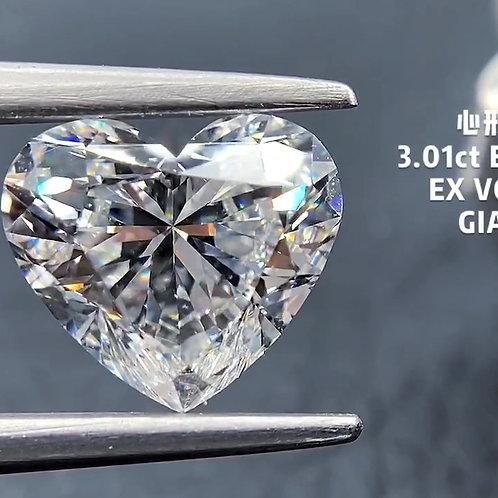 Heart Cut Diamond 3.01ct