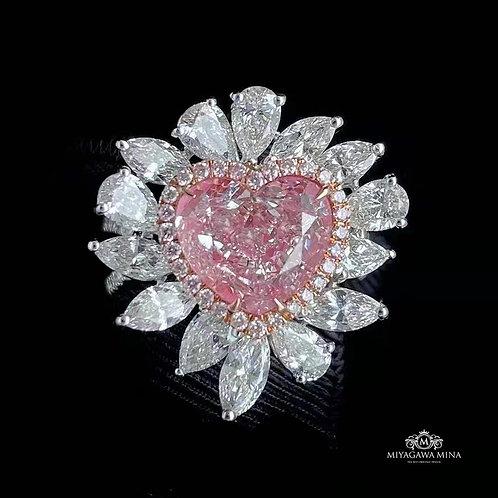 GIA Pink Diamond Ring 4.38ct
