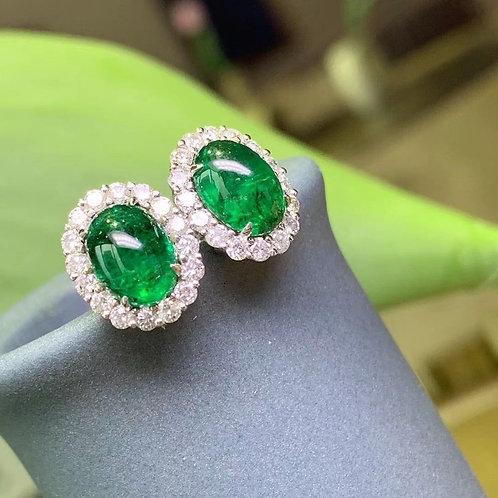 Emerald Earrings 3.31ct