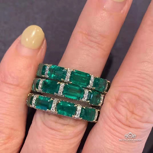 Emerald Eternity Ring 5.688ct