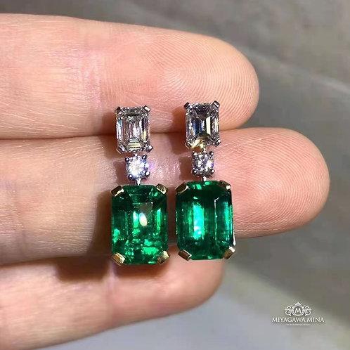 Emerald Earrings 5.15ct