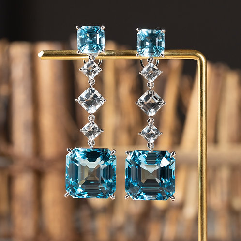 Natural Topaz Earrings 59ct
