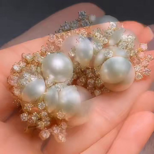 Pearl Earrings 9mm*10.5mm