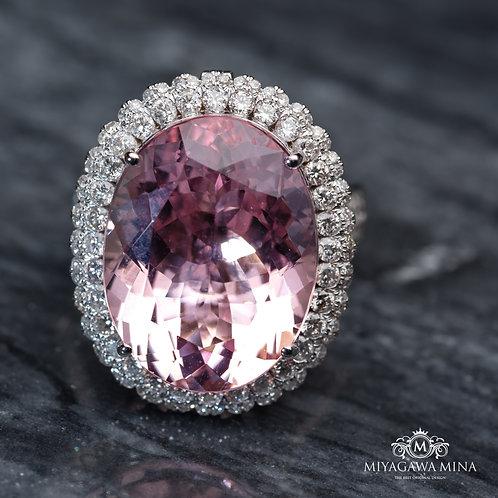 Pink Morganite Ring 16ct