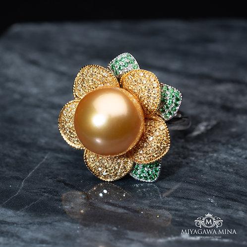 Golden Pear Ring 13mm