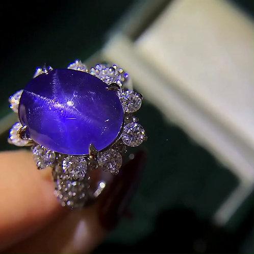Star Sapphire Ring 13.03ct