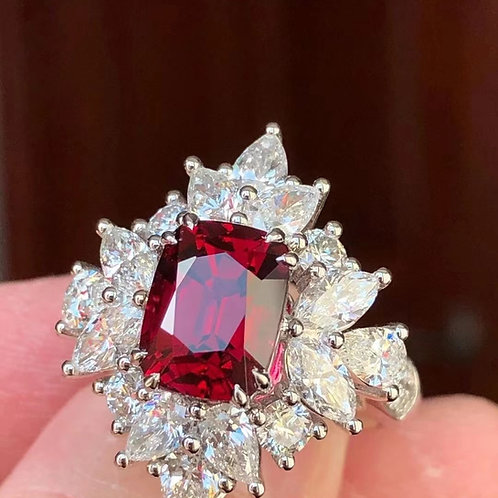 (Ask Price) Burmese Spinel Ring 4ct
