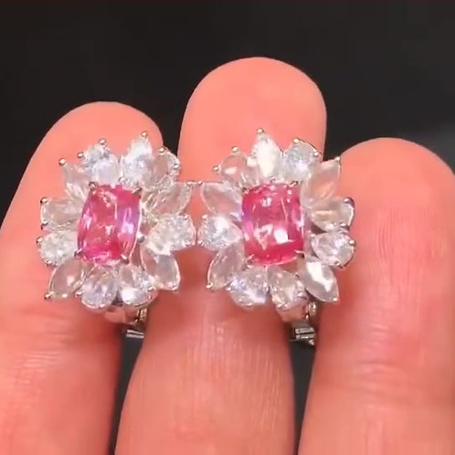 (Ask Price) Padparadscha Earring 1.00ct