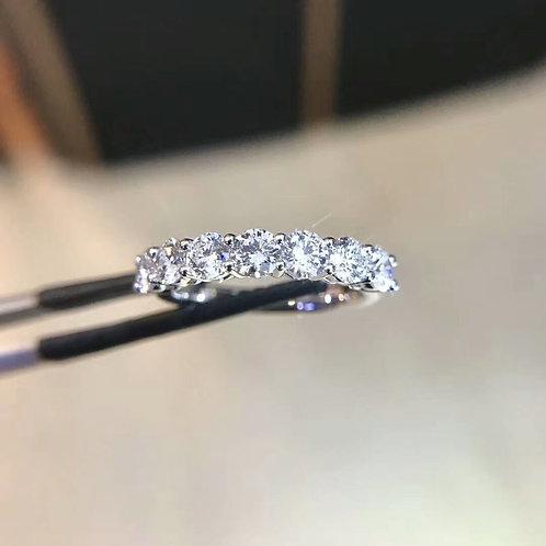 Half Circle Diamond Eternity Ring 1.33ct