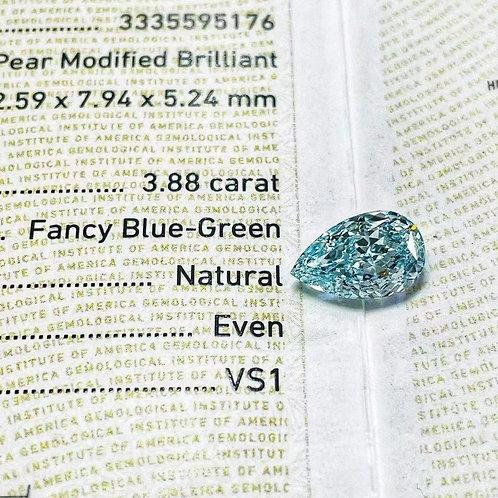 (Ask Price) Blue Diamond3.88ct