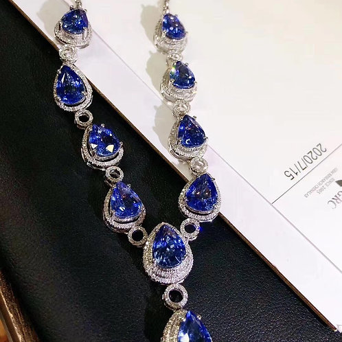 Sapphire Necklace 16.8ct